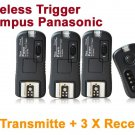 Pixel TF-364 Flash Trigger Olympus Panasonic 1 Transmitter 3 Receiver
