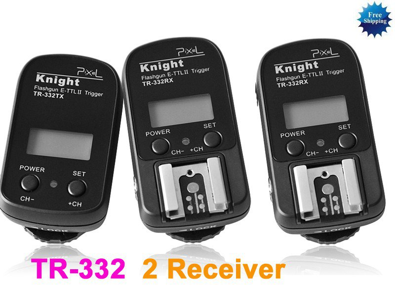 Flash Trigger with 2 Receiver for Canon E-TTL