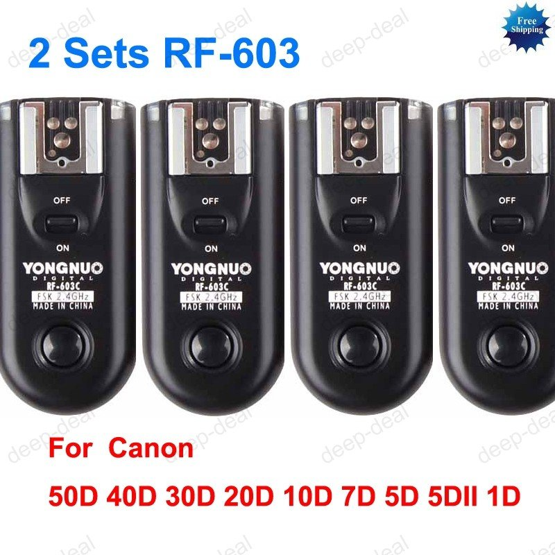 2 Sets RF-603 Radio Flash Trigger for Canon C3