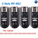 2 Sets RF-603 Radio Flash Trigger for Canon C1