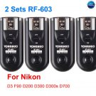 2 Sets RF-603 N1 Radio Flash Trigger for nikon