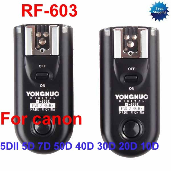 RF-603-C3 Radio Flash Trigger for Canon 5DII 5D 7D 50D 40D 30D 20D 10D