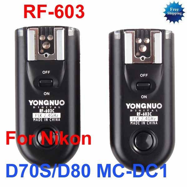 RF-603-N2 Radio Flash Trigger for nikon D70S D80 MC-DC1