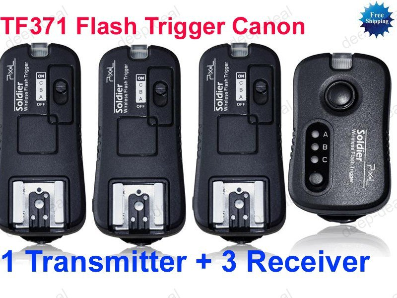 TF371 Flash Trigger for Canon 1 Transmitter 3 Receivers