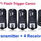 TF371 Flash Trigger for Canon 1 Transmitter 4 Receivers