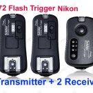 TF372 Flash Trigger for Nikon 1 Transmitter 2 Receiver