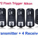 TF372 Flash Trigger for Nikon 1 Transmitter 4 Receiver