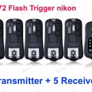 TF372 Flash Trigger for Nikon 1 Transmitter 5 Receiver