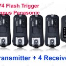 TF-374 Flash Trigger Olympus Panasonic 1 Transmitter 4 Receivers