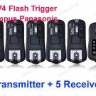 TF-374 Flash Trigger Olympus Panasonic 1 Transmitter 5 Receivers