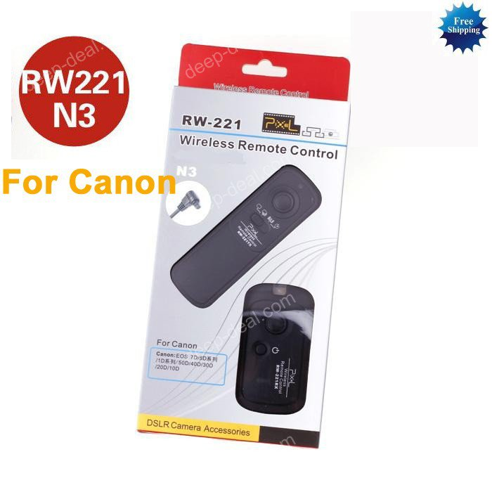 RW-221 Wireless Shutter Remote CANON 7D 5D 50D 40D 1D