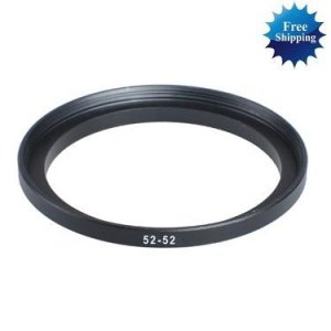 52mm-52mm 52-52 mm 52 to 52 Step Up Ring Filter Adapter