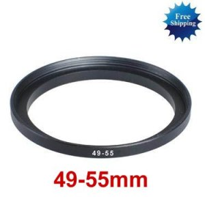 49mm-55mm 49-55 mm 49 to 55 Step Up Ring Filter Adapter