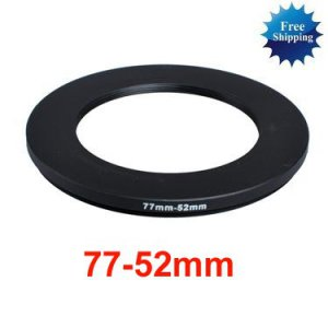 77mm-52mm 77-52 mm 77 to 52 Step Down Ring Filter Adapter