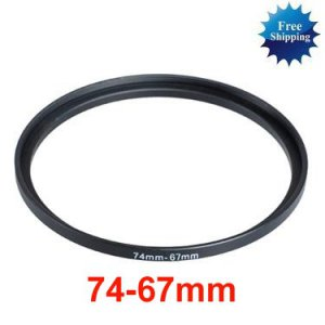 74mm-67mm 74-67 mm 74 to 67 Step Down Ring Filter Adapter