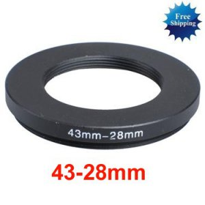43mm-28mm 43-28 mm 43 to 28 Step Down Ring Filter Adapter