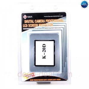 GGS LCD Optical Glass Screen Protector for PENTAX K20D camera
