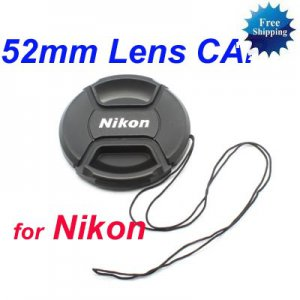 52 mm Center Pinch Snap-on Front Lens Cap for NIKON Lens