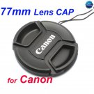 77 mm Center Pinch Snap-on Front Lens Cap for Canon Lens