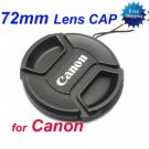 72 mm Center Pinch Snap-on Front Lens Cap for Canon Lens