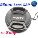 58 mm Center Pinch Snap-on Front Lens Cap for Sony Lens
