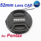 52 mm Center Pinch Snap-on Front Lens Cap for Pentax Lens