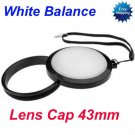 43 mm White Balance Lens Filter Cap with Filter Mount WB