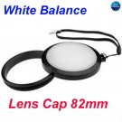 82 mm White Balance Lens Filter Cap with Filter Mount WB