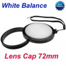 72 mm White Balance Lens Filter Cap with Filter Mount WB