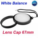 67 mm White Balance Lens Filter Cap with Filter Mount WB