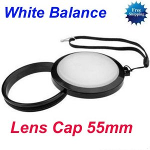 55 mm White Balance Lens Filter Cap with Filter Mount WB