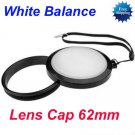 62 mm White Balance Lens Filter Cap with Filter Mount WB