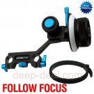 Follow Focus for 15mm Rod 5D II 7D 60D 600D D7000 D5100