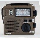 TECSUN GREEN-88 EMERGENCY HAND CRANKING AM/FM/SW RECEIVR