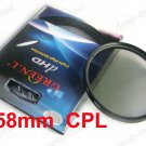 58 mm 58mm Circular Polarizing C-PL PL-CIR CPL Filter