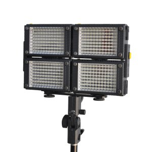 4 x HDV-Z96 LED HD Video Light Kit Z96 LED Video Light+Battery 3-8 days shipping