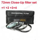 72mm Macro Close-Up +1 +2 +3 +4 Close Up Filter Kit