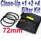 72mm Macro Close-Up +1 +2 +4 Close Up Filter Kit