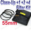 55 mm Macro Close-Up +1 +2 +4 Close Up Filter Kit