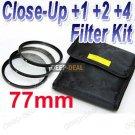 77 mm Macro Close-Up +1 +2 +4 Close Up Filter Kit