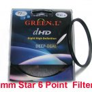 Green.L 72mm Star six 6 Point 6PT Filter for 72 mm LENS