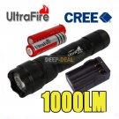 Ultrafire WF-502B CREE XML T6 1000LM LED Flashlight 18650 Charger
