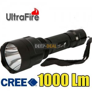 UltraFire C8 CREE XM-L T6 LED 1000 Lumen Flashlight Torch