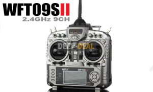 WFLY WFT09SII 2.4GHz 9-Channel Radio Set For RC Airplane Hobby