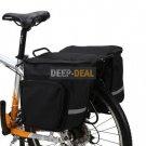 Saddlebag Bicycle Pannier double rear pannier bag 45L