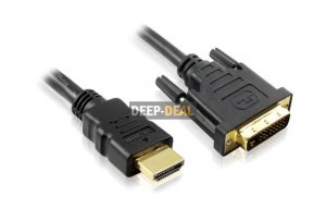 HDMI Male to DVI Male M-M Converter Adapter For HDTV