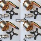 4X 2212-13 Brushless Motor 1000KV 150watts MultiCopter KK Multi-Copter Quad X