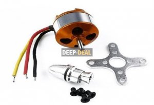 A 2208 2600KV Brushless Outrunner Motor for RC Aircraft
