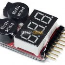 3.7-30V 1-8S Lipo/Fe Battery Voltage Tester Low Voltage Buzzer Alarm