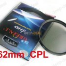 62mm Circular Polarizing C-PL PL-CIR CPL Filter 62CPL